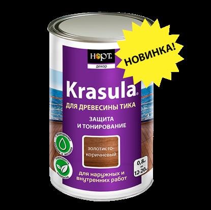 Защитно-декоративный состав «KRASULA® для древесины тика»